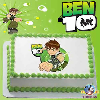 Earth Alien Heroes Ben 10 edible image cake topper Birthday party designs for Boys cartoon character