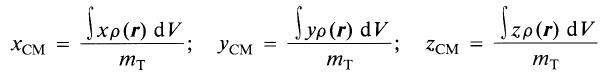 Coordenadas infinitesimales del centro de masas