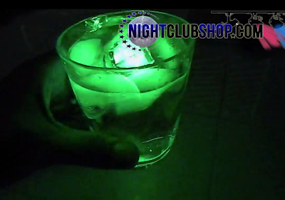 Water/Liquid activated GLOW LED ICE CUBE