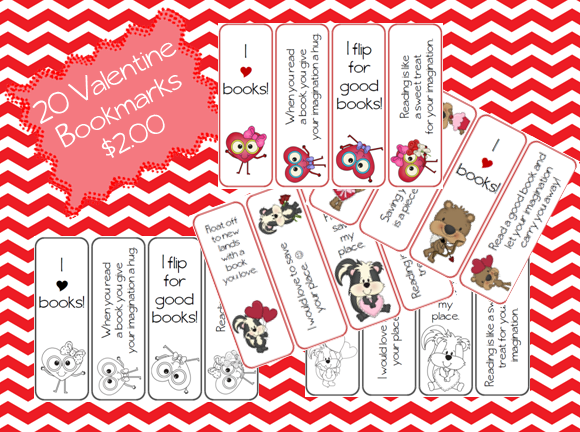 https://www.teacherspayteachers.com/Product/20-Valentine-Bookmarks-541856