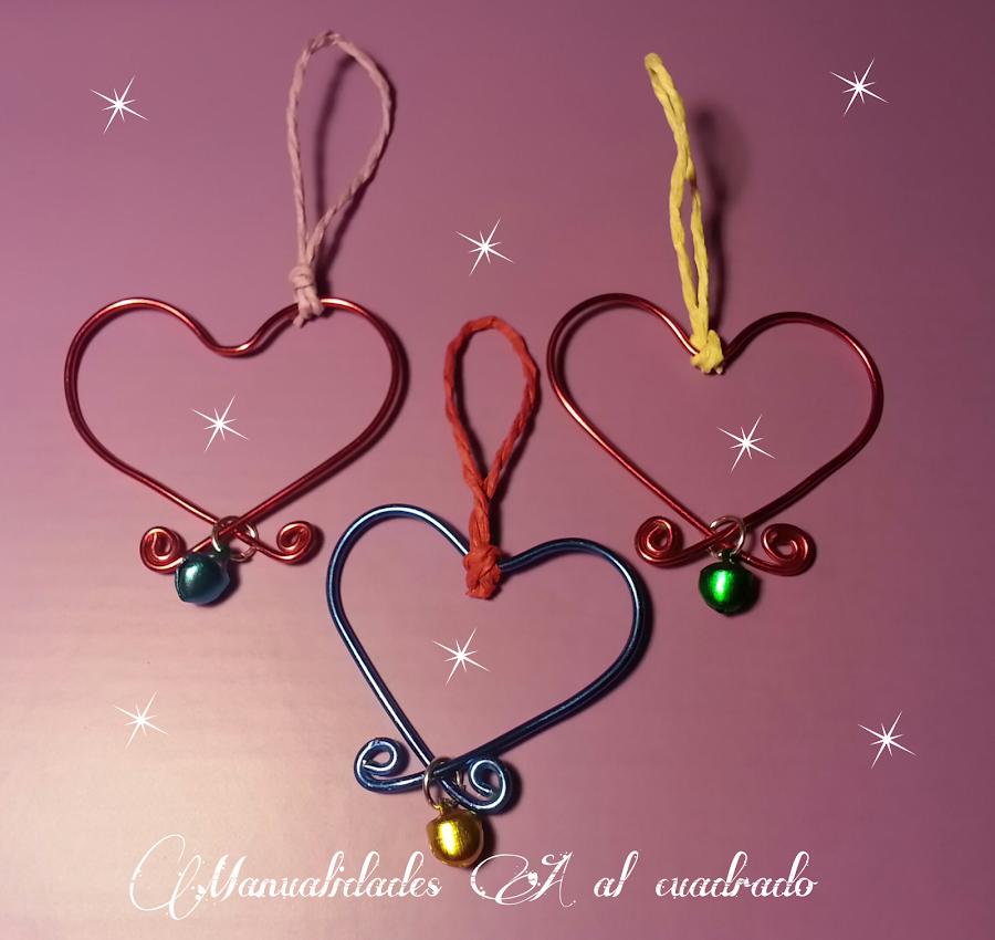 adornos para navidad hechos en alambre