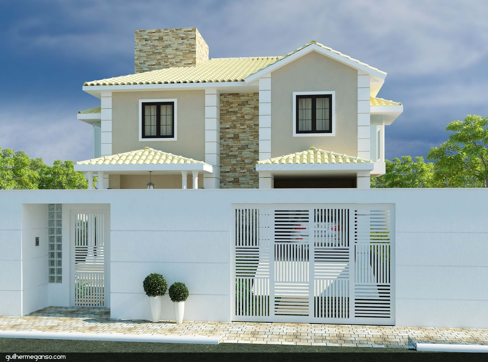 #40658B  contemporânea com telhado aparente e com esquadrias em madeira preta 214 Janelas De Vidro Ou Madeira