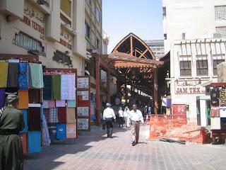 Old Souk (Market Place) in Dubai rare photo