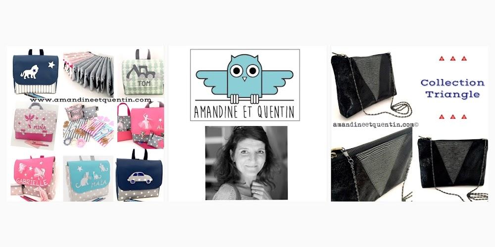 Amandine et Quentin - Cartables Personnalisés et Pochettes  - Made In France