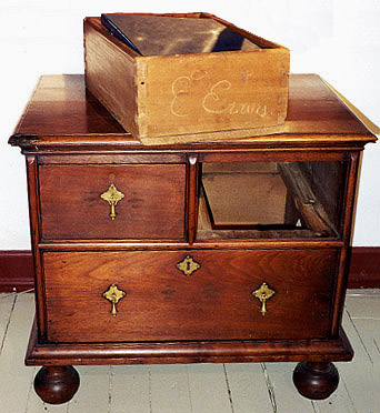 Diminutive Chest Of Drawers On Ball Feet, Signed E. Evans From Philadelphia  Cabinetmaking And Commerce, 1718 1753: The Account Book Of John Head, ...