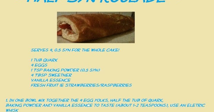 Knitting To Stay Slim Half Syn Roulade