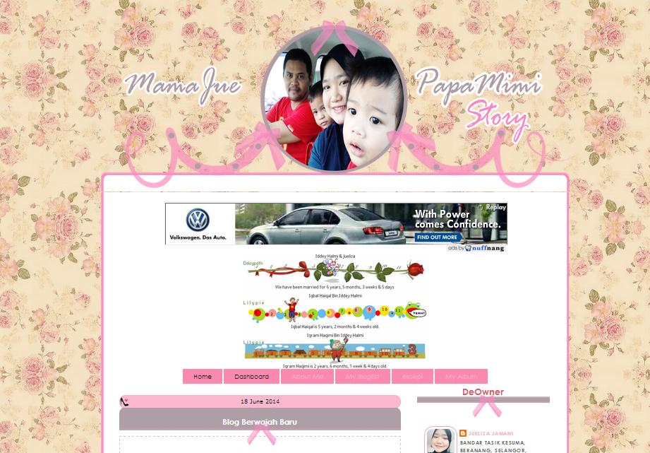 Edit Blog MamaJue Papa Mimi