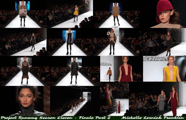 Michelle Lesniak Franklin's 12 look collection Project Runway Season 11 - Finale Part 2 jiveinthe415.com