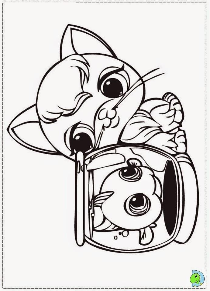 Dinokids desenhos para colorir desenhos de littlest pet for Littlest pet shop color pages