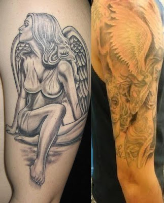 Angel Tattoos For Men,tattoos pics,tattoo designs,tattoos pictures,tattoos for men,tattoo for men