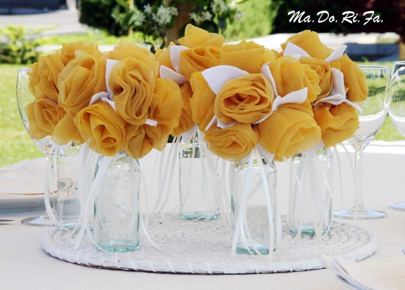 Matrimonio In Giallo E Bianco : Ma.do.ri.fà. eventi: le nozze in giallo e bianco