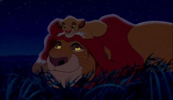 padre e hijo (DP) Mufasa+and+simba+under+the+stars