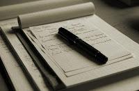 cahier stylo écriture cursive