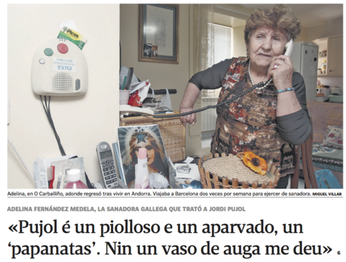 Adelina, la vidente gallega de Pujol