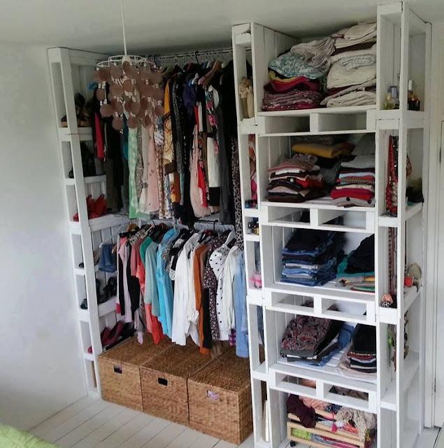 Closet feito de Pallet | Ideias baratas Closet