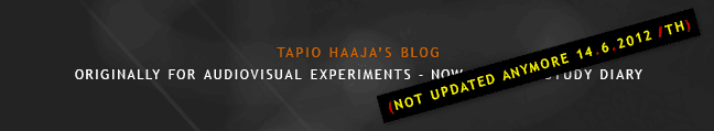 Tapio Haaja's Blog (Not updated anymore)
