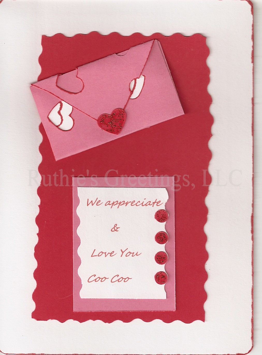 New Valentines Day Handmade Card – Handmade Valentine Day Card