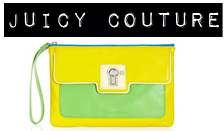 juicy couture neon wristlet