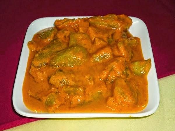 God (sweet ) ambade sasam in a serving bowl