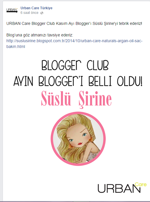 urban care blogger club ayın bloggerı