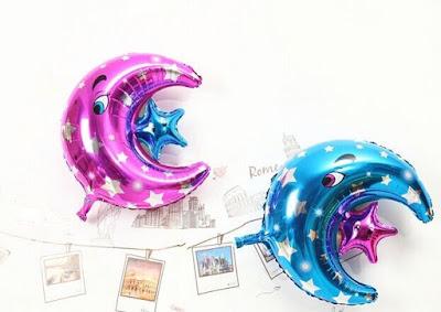Balon Foil Star Moon