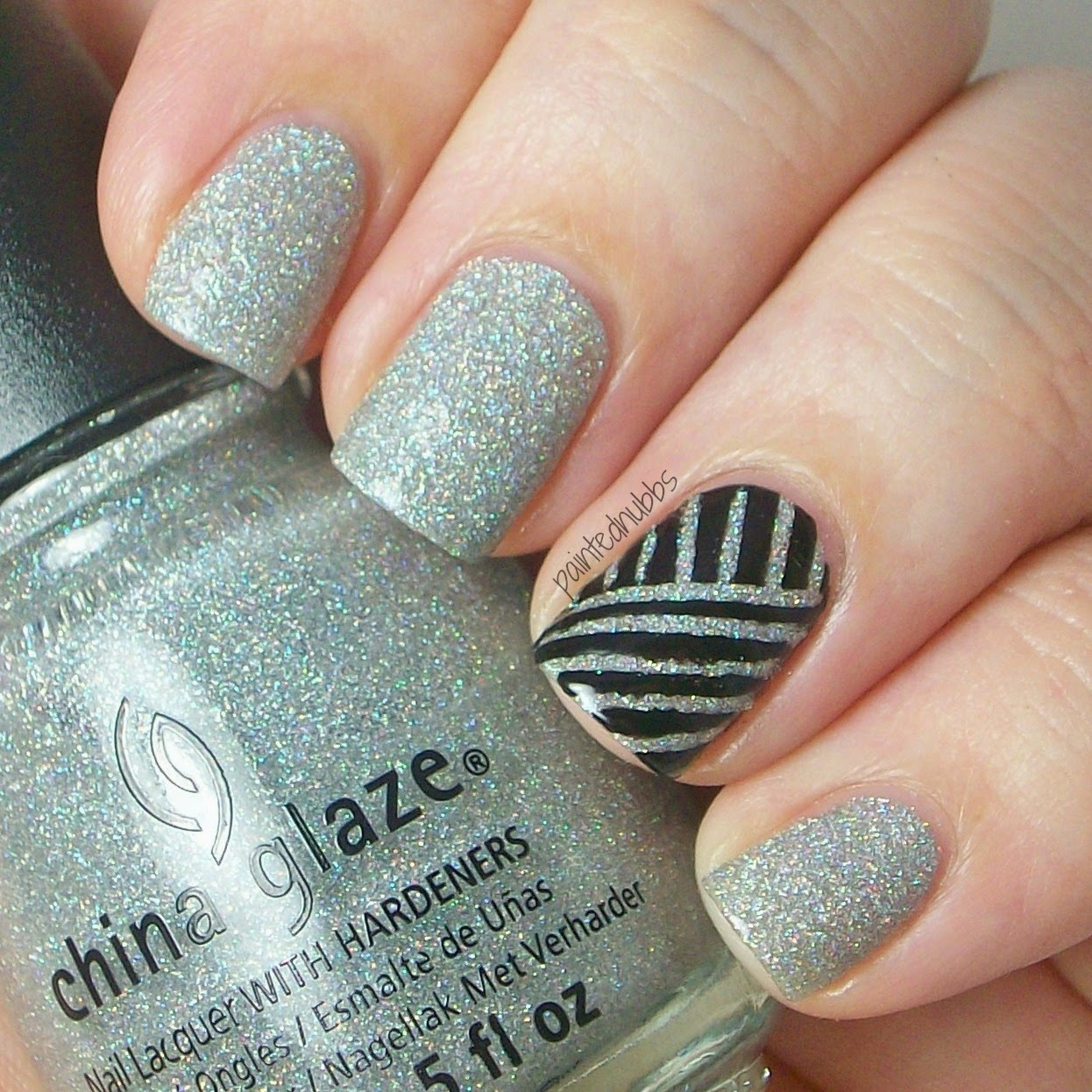 Nail Art Using Striping Tape: Painted Nubbs: More Striping Tape Nail Art