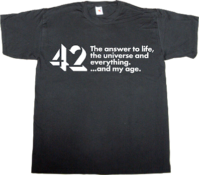 The Hitchhiker's Guide to the Galaxy autobombing anniversary fun douglas adams t-shirt ephemeral-t-shirts