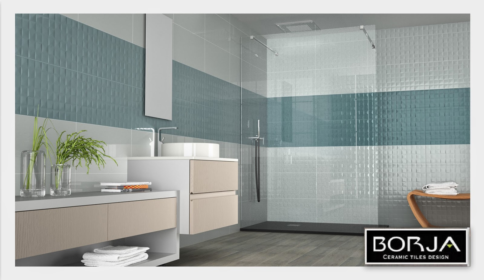 new walls: bathroom & kitchens 30x60 | borja ceramic tiles design