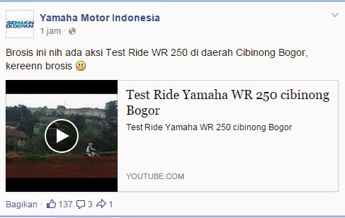 Yamaha Share Video Test Ride WR250 Pertanda Akan Segera Launchingkah?