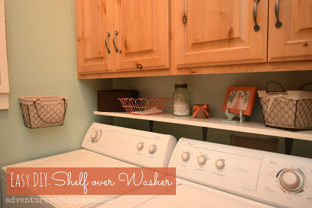 Easy DIY Shelf over the Washer
