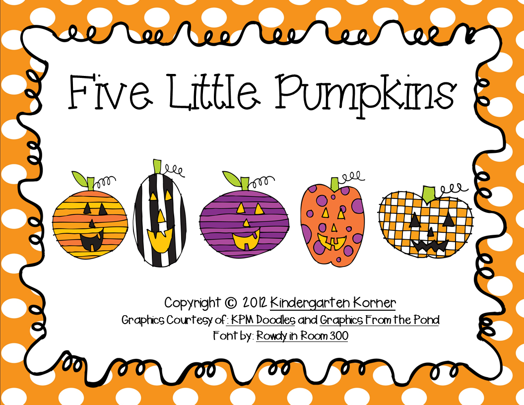http://www.teacherspayteachers.com/Product/Five-Little-Pumpkins-Little-Reader-347634