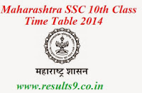 Maharashtra 10th Class SSC Time Table 2014