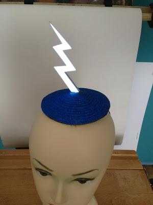 lightning hat led light flashing fascinator gg's