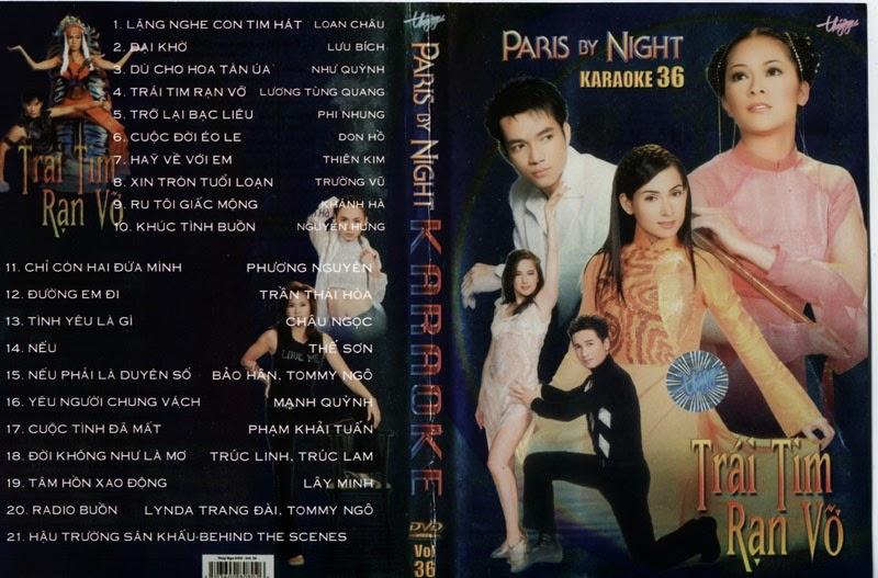 PBN Karaoke 36 – Trái Tim Dạn Vỡ (DVD9)