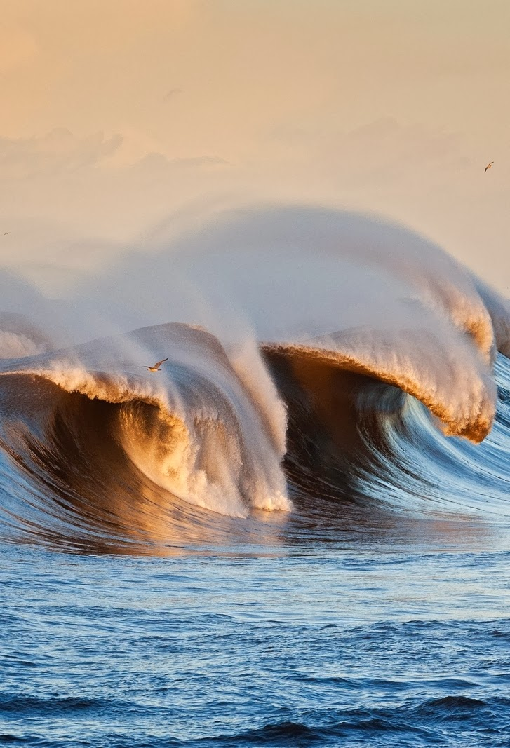 Breaking Wave, Asturias, Spain.