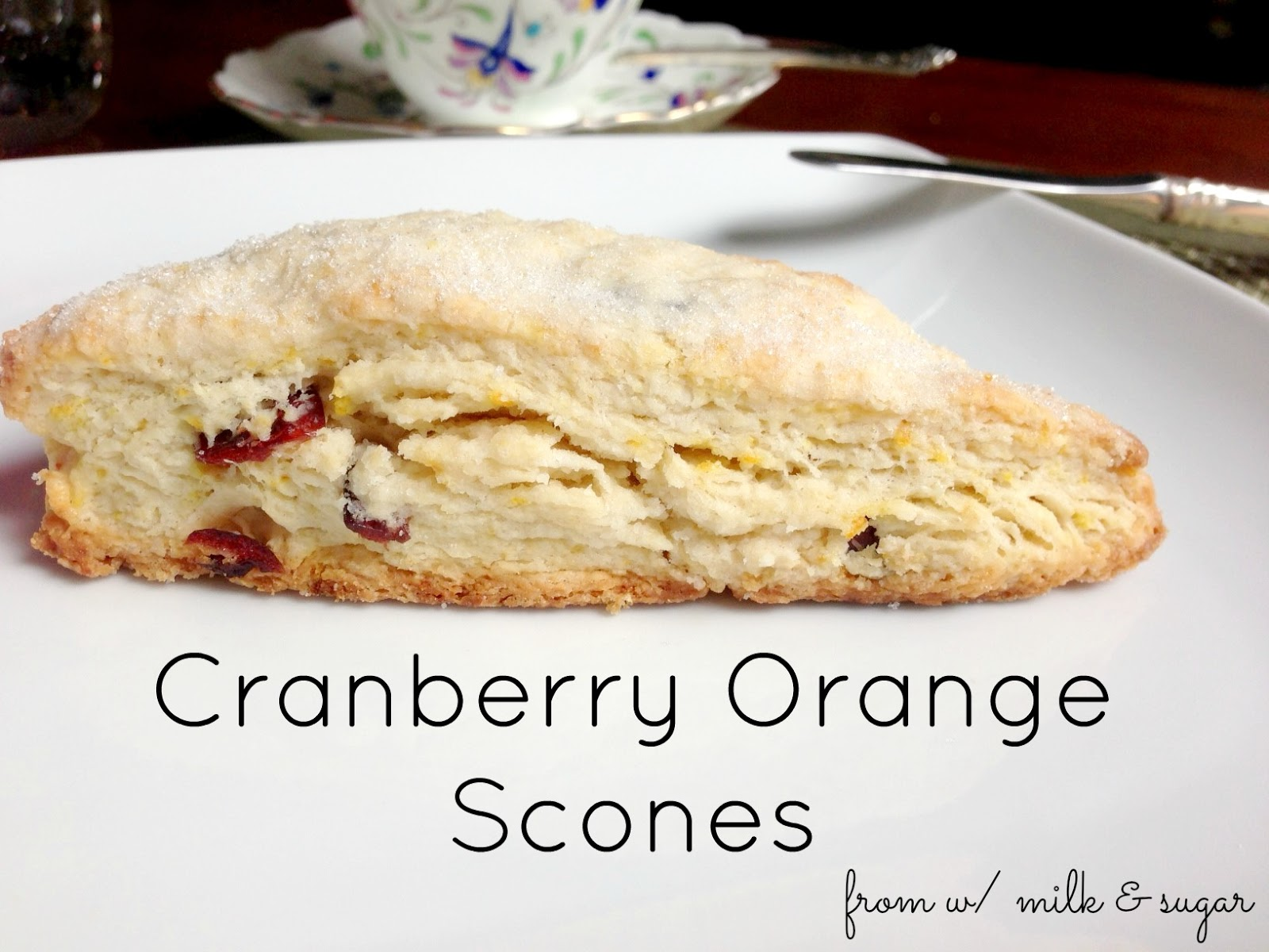 Cranberry Orange Scones {w/ recipes)