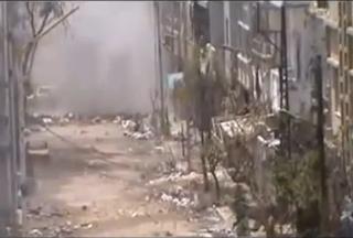 كتيبة الانصار تستهدف حاجز للجيش الاسدي بمدفع B10