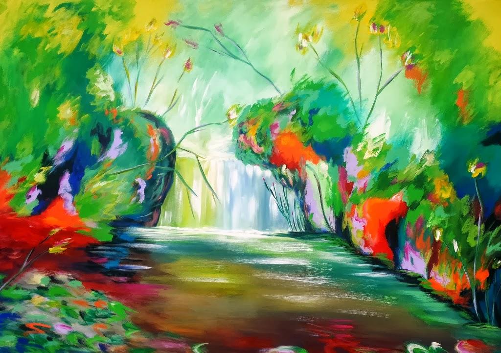 artista colombiano de pintura abstracta moderna