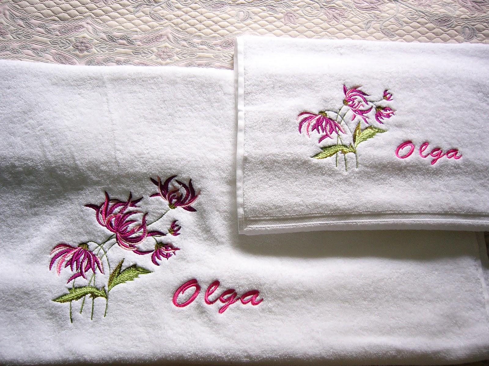 Компьютерная вышивка на полотенце 20