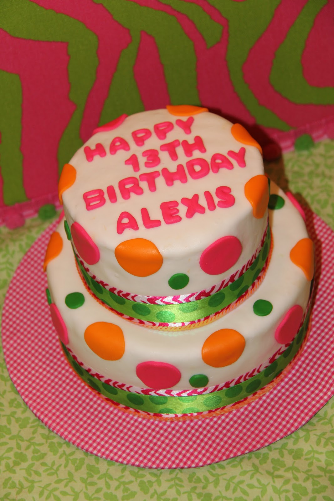 Happy Th Birthday Alexis Cake