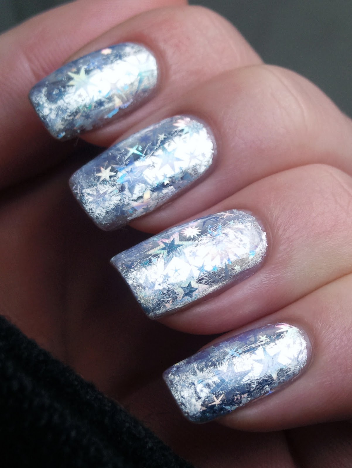 Nail Art Foil: Silver Starburst