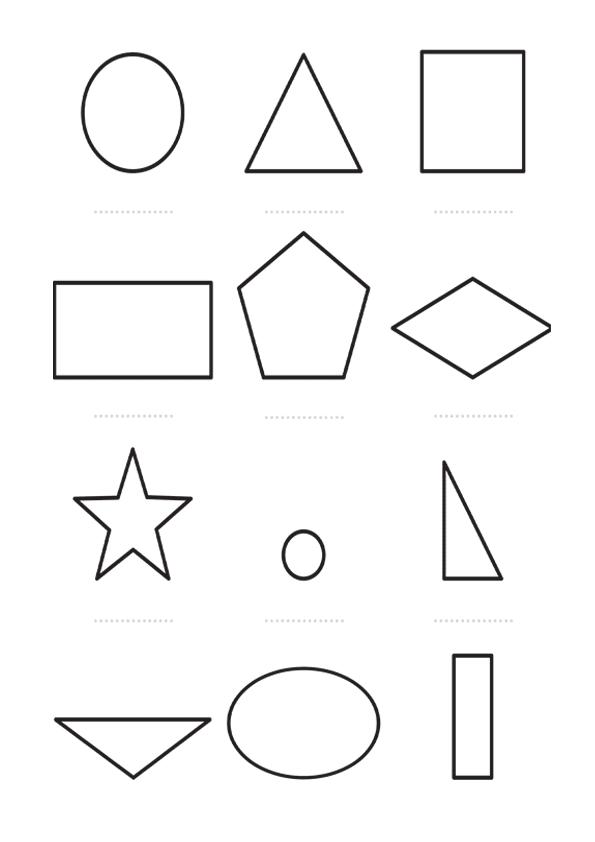Figuras geometricas para colorear con nombres - Imagui