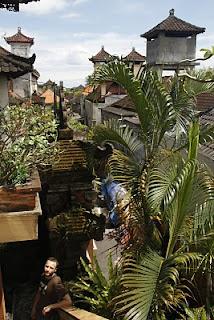 Nuestro hospedaje, en casas típicas balinesas.