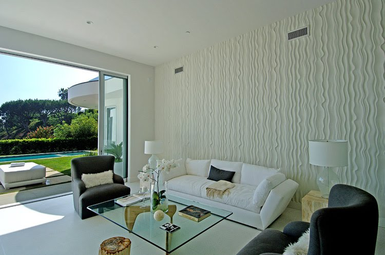 See this house setting the stage for a house with a view Wall texture designs for living room