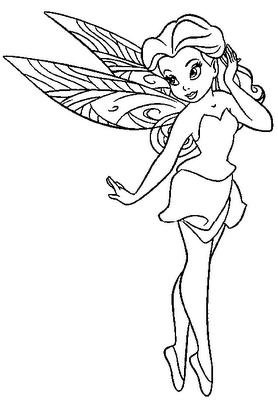 Printable Fairy Coloring Pages