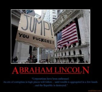 Abraham Lincoln Motivational Poster on Abraham Lincoln Abraham Lincol Wallstreet Corporations Crash