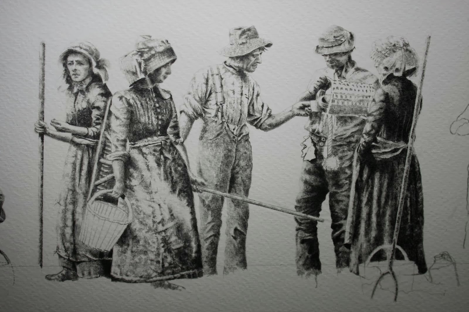 'The Haywain' (Study drawing)