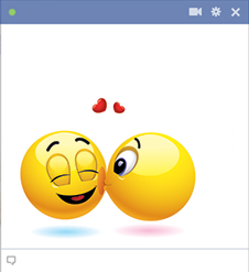 Cheek kiss emoticons