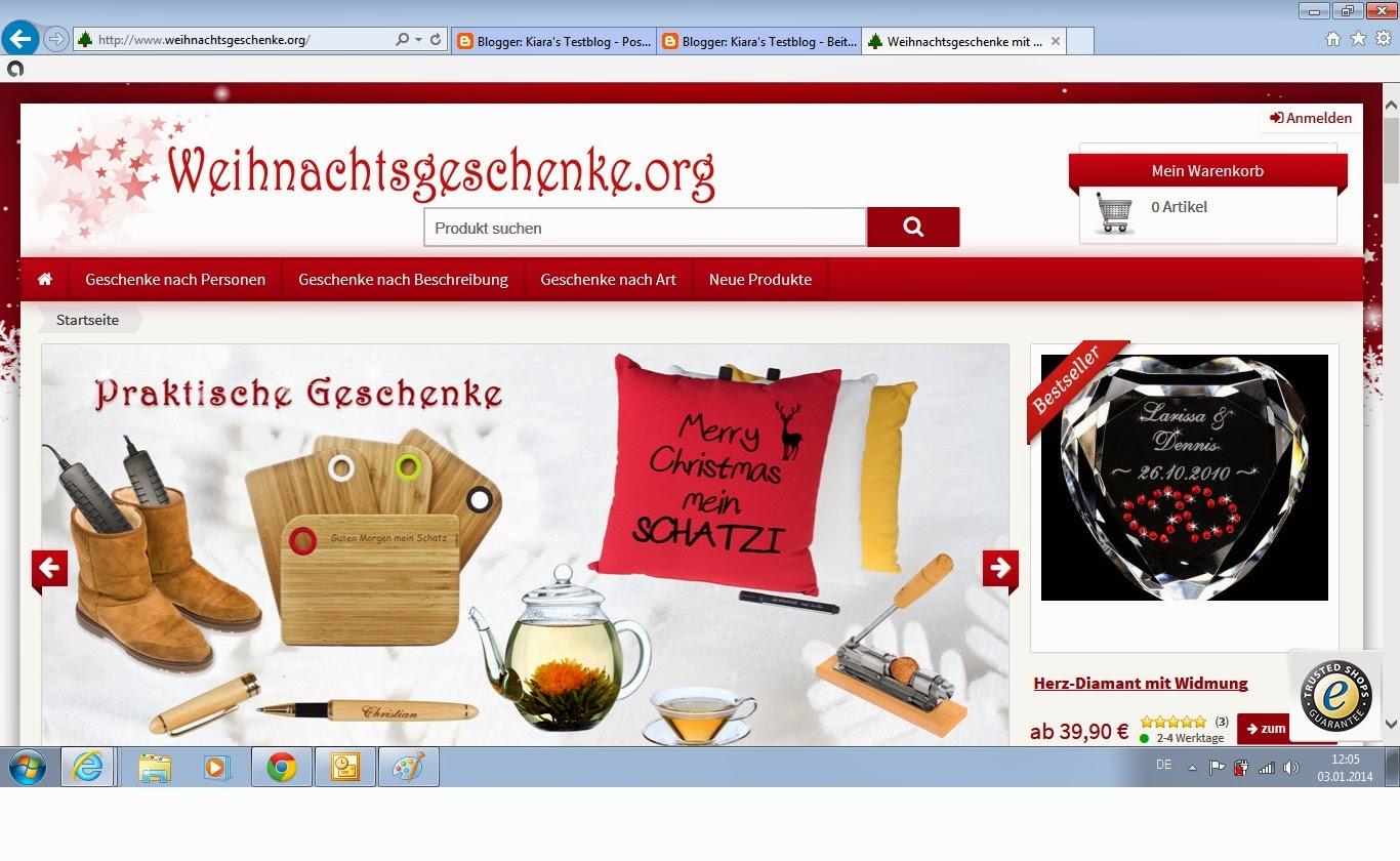 Kiara\'s Testblog: Geschenkideen von weihnachtsgeschenke.org