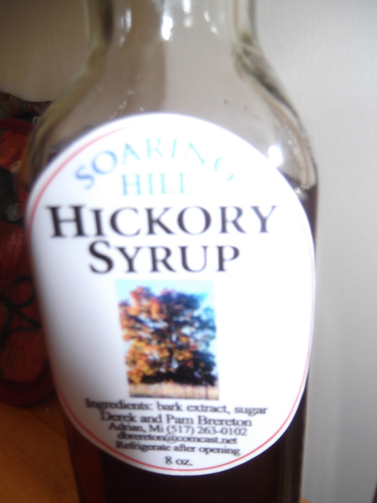 a written recipe hickory syrup